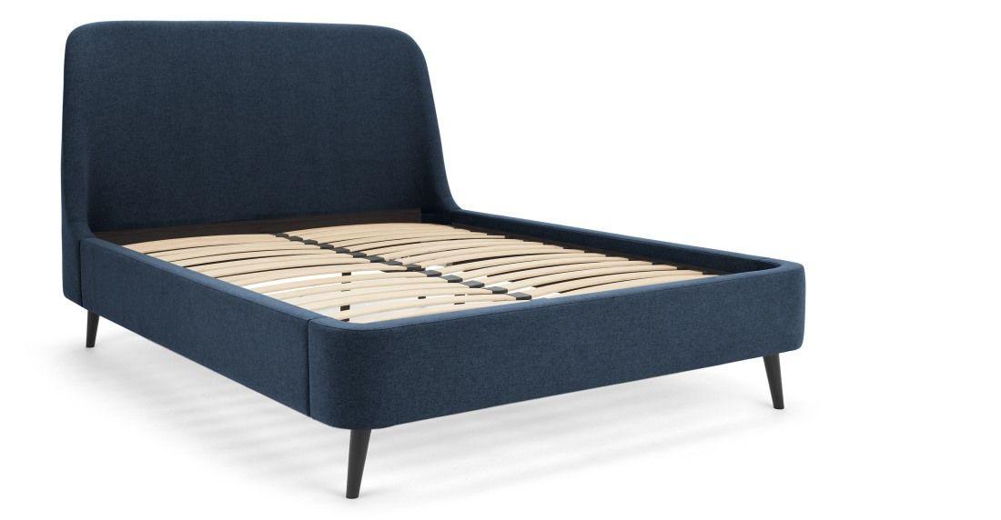 Hayllar Polsterbett 180 X 200 Cm Agaisblau King Size Bed