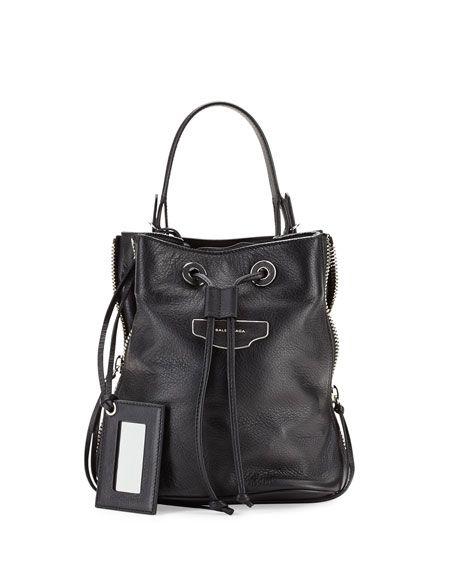 99ab590ed BALENCIAGA Papier Plate Side-Zip Bucket Bag. #balenciaga #bags #shoulder  bags #leather #bucket #lining