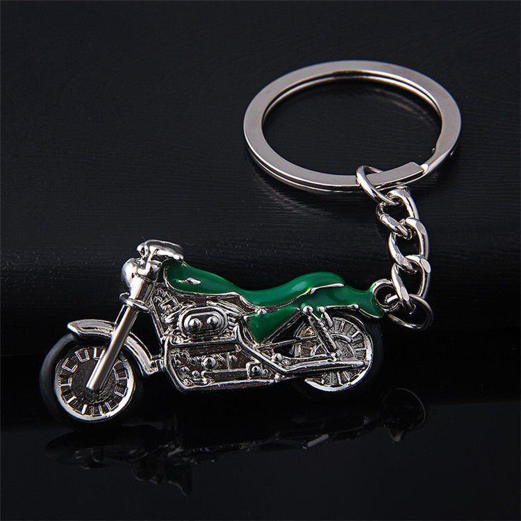 Motorcycle Keychain Mini Bike Keyring Pendant Key Ring Chain Fob
