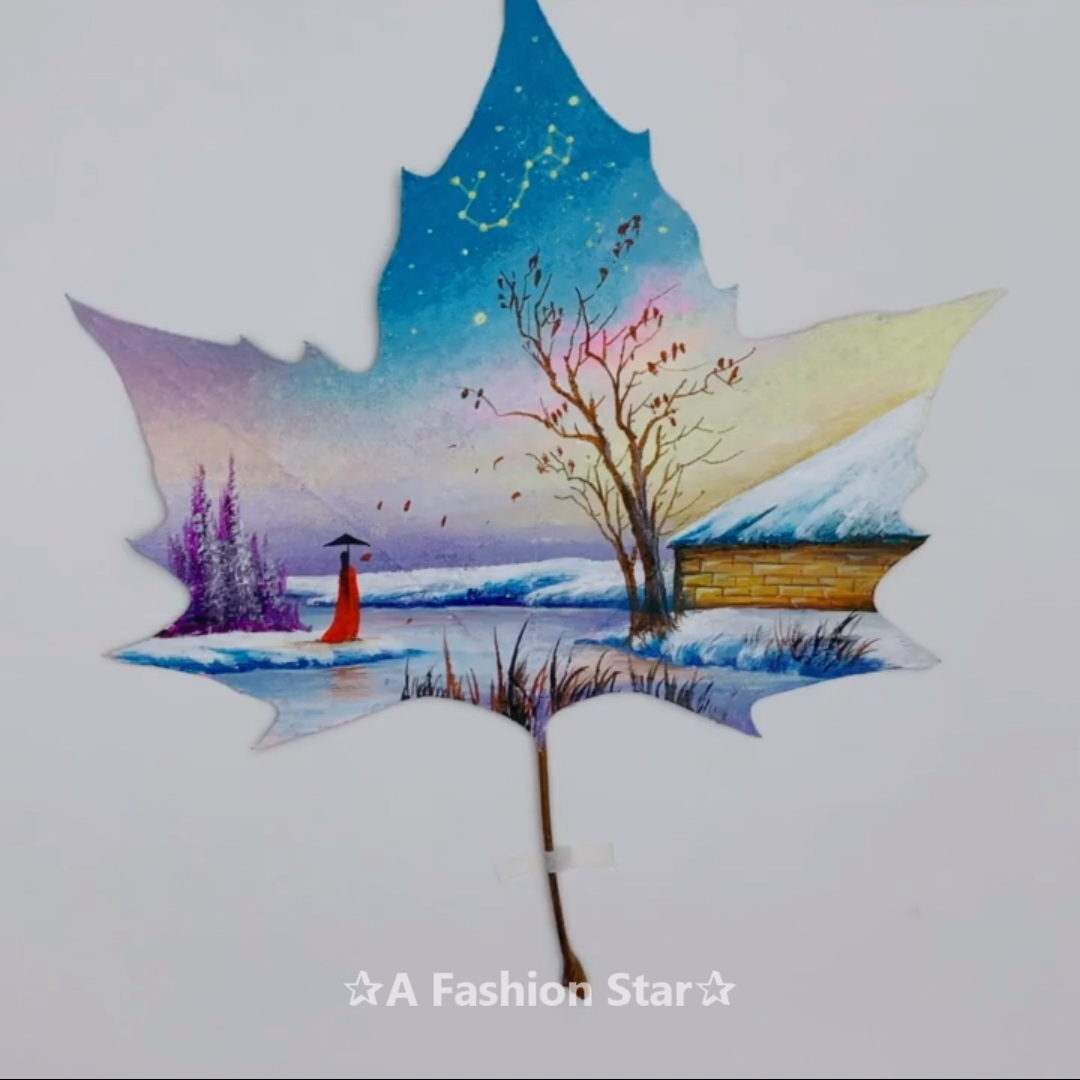 5 Best Painting On Leaves Ideas Leaf Painting Craft Star Art Video Painting Painted Leaves Art Painting