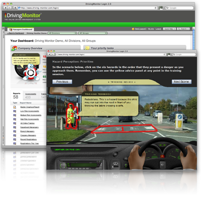 Risk Monitor Driver Risk Assessment Demo With Online Elearning For