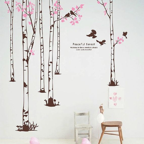 Hey, I found this really awesome Etsy listing at https://www.etsy.com/listing/163372789/removable-vinyl-forest-wall-decal-wall