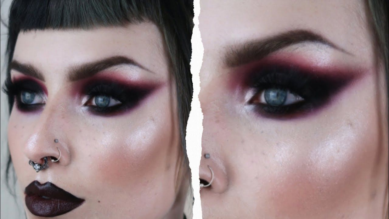 ⋆CALMING GOTH/GRUNGE MAKEUP TUTORIAL | KATIE EVE MAKEUP ⋆