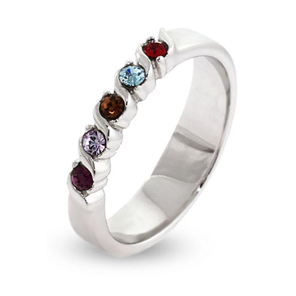 Sterling or 14k Gold Tanzanite Chevron Ring Choose Your Birthstone