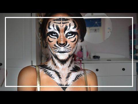Tiger schminken: Video-Anleitung