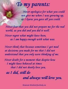 I Love You Mom And Dad More Than You Know Mom And Dad Quotes