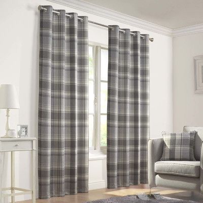 Found It At Wayfair Co Uk Inverness Curtain Panel Grey Tartan Curtains Tartan Curtains Curtain Designs