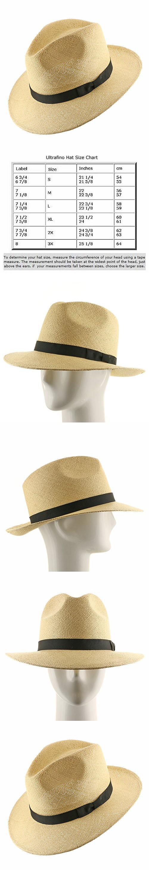 FEDORA PACKABLE FOLDABLE Panama Straw Hat CLASSIC 7 1 4 Fedoras b62305ca918
