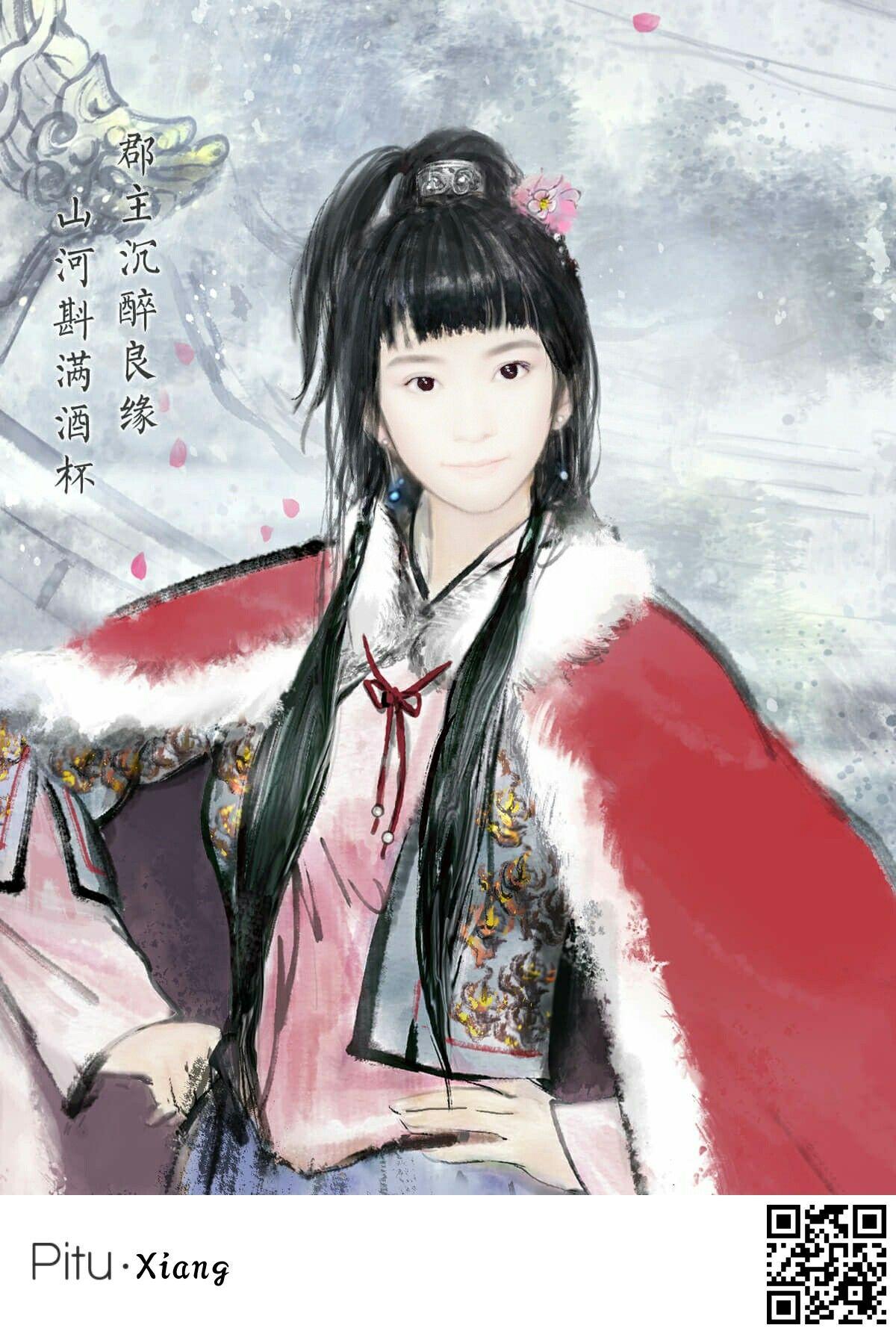 Pitu app My face Painting of girl, Art, Anime