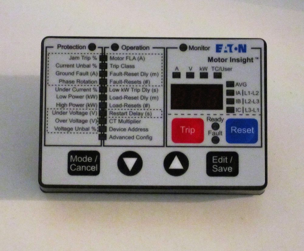 Details About Eaton Motor Insight Remote Display Cat C4411 Style 3 Current Relay 2374 001a