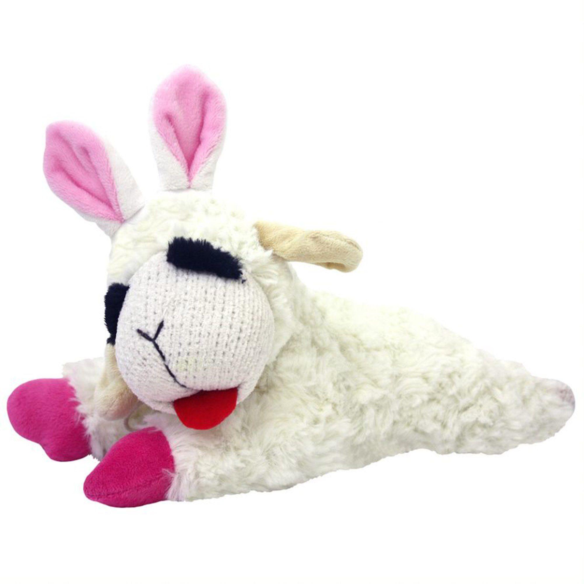 Multipet Lamb Chop With Bunny Ears Dog Toy Medium Dog Toys