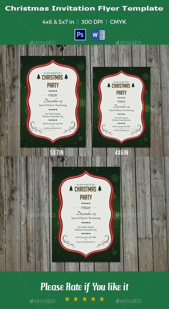 Christmas Invitation Flyer Template -V08 Christmas invitations - Invitation Flyer Template
