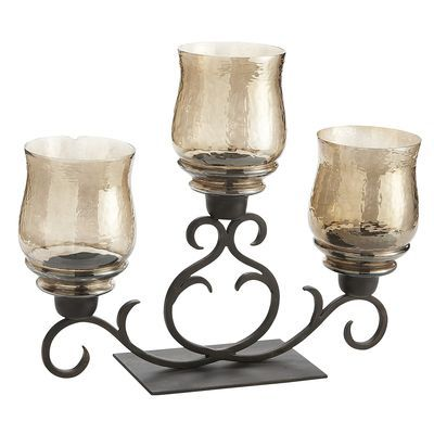 Amber Luster Scroll Centerpiece Pier One