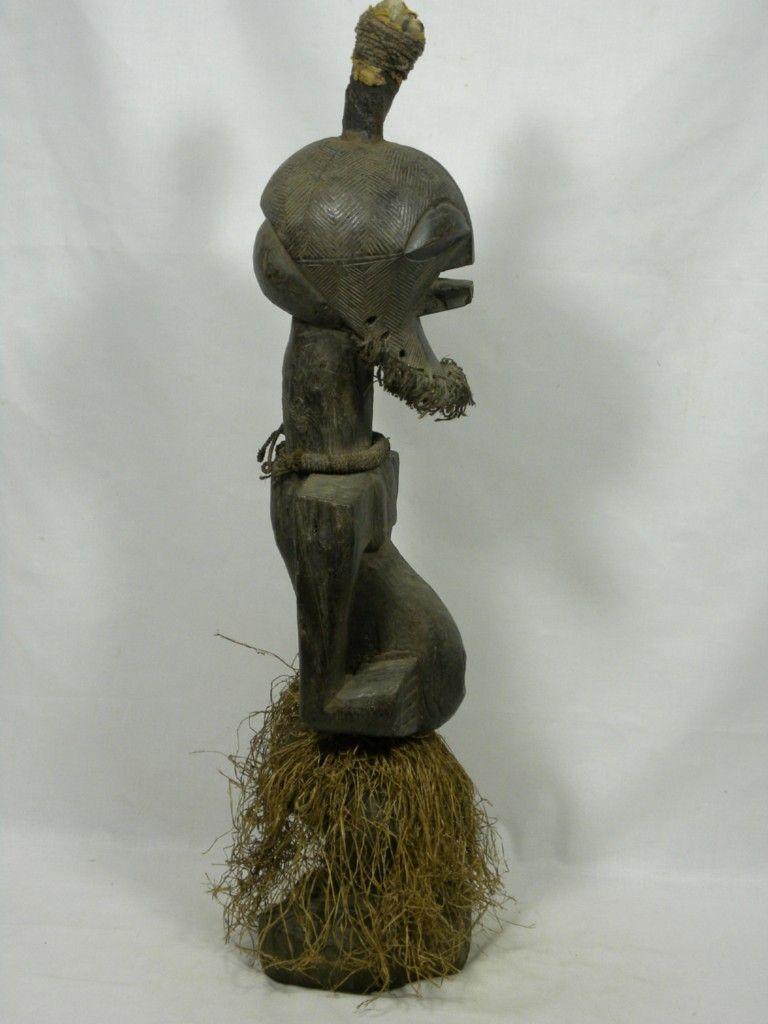 "Superb old African Tribal Art SONGYE Magical Power Figure   Dimesion  29""H  x    8""W   x    7""D"