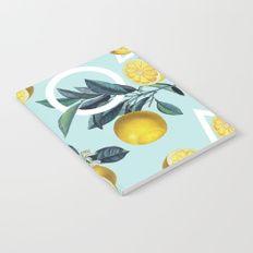 Geometric and Lemon pattern III Notebook