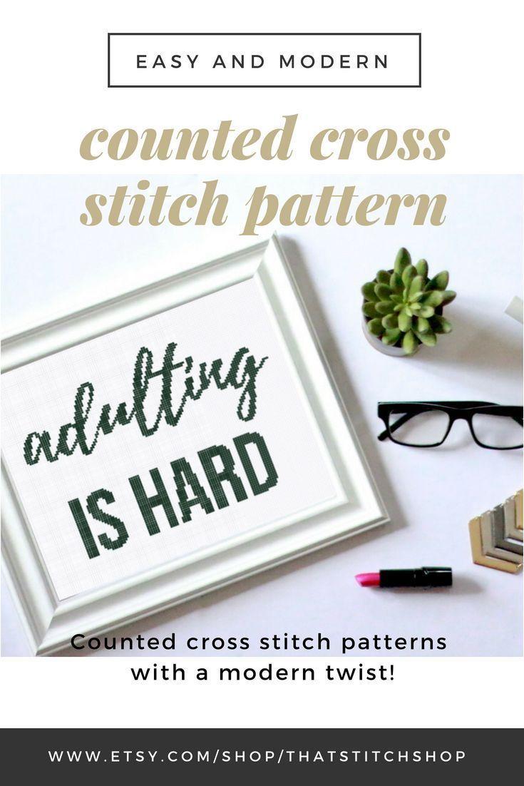 Counted cross stitch pattern, modern cross stitch pattern, cross stitch pattern, funny cross stitch pattern, easy cross stitch pattern, #001  #counted #cross #Easy #Funny #modern #Pattern #stitch