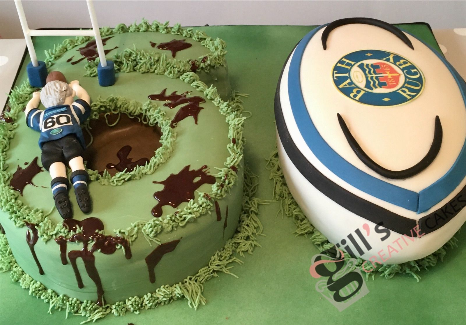 Pin By Laura Alvarado On Rugby In 2020 60th Birthday Cakes Rugby Cake Rugby Birthday