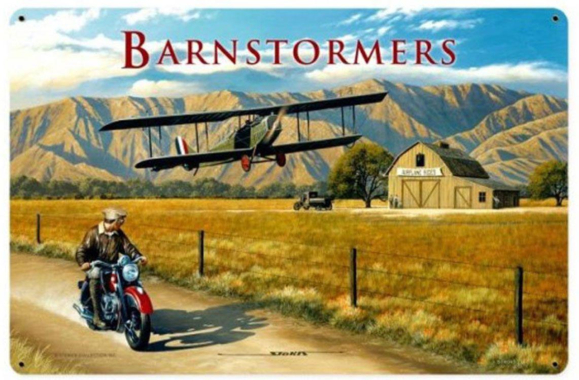Barnstormers Airplane Sign | Vintage Airplane Art | Stan Stokes Art