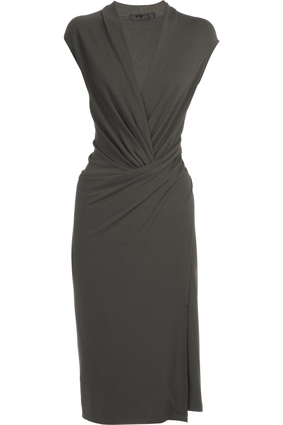 Wool jersey sheath dress by Donna Karan