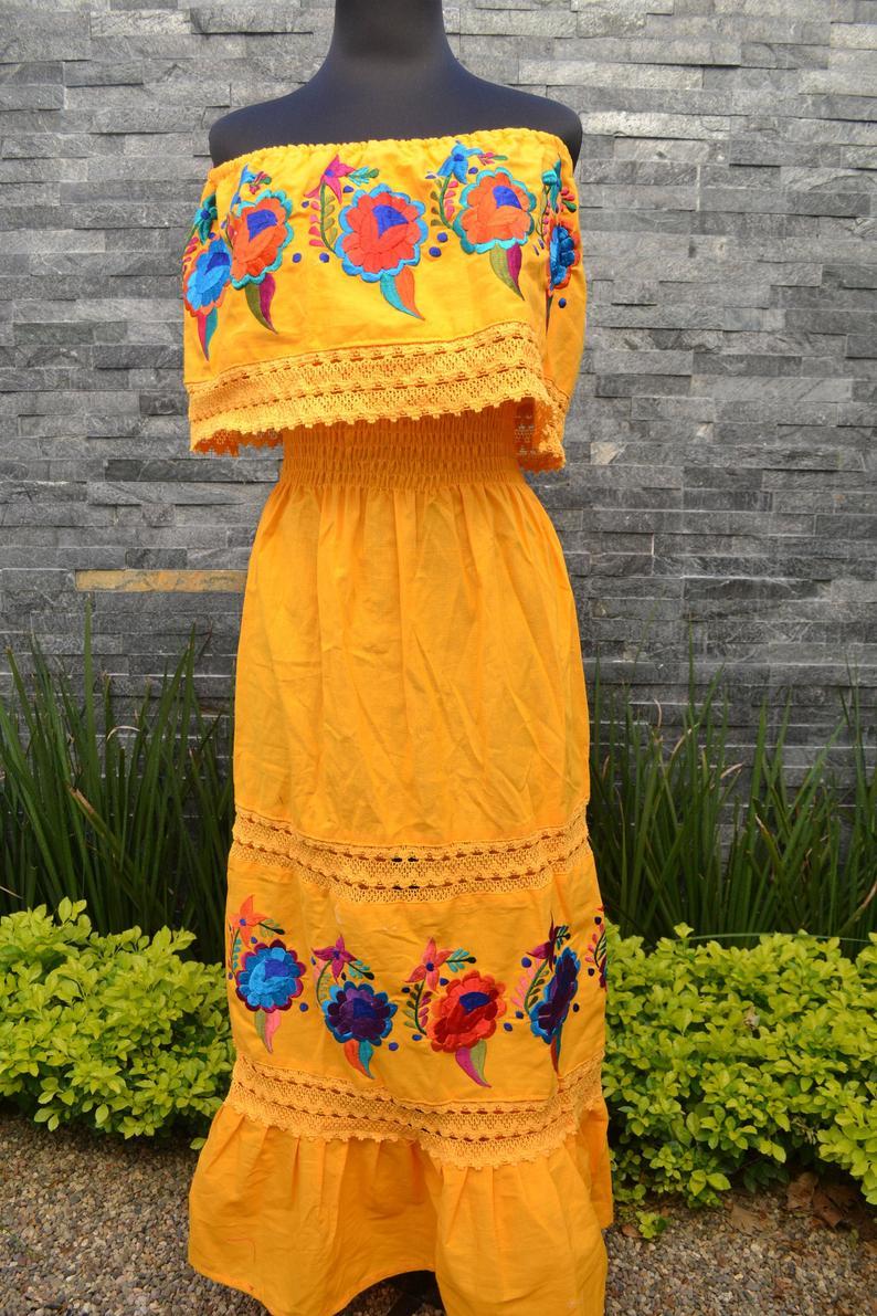 Strapless Dress Chiapas Dress Huipil Mexican Dress Chiapas Dress Mexican Embroidered Dress Vintage Floral Dress [ 1191 x 794 Pixel ]