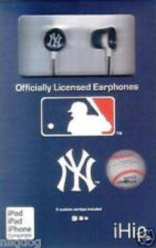 i-Hip-New-York-Yankees-Earphones-Earbuds-Headphones-Ear-Buds-New-Sealed