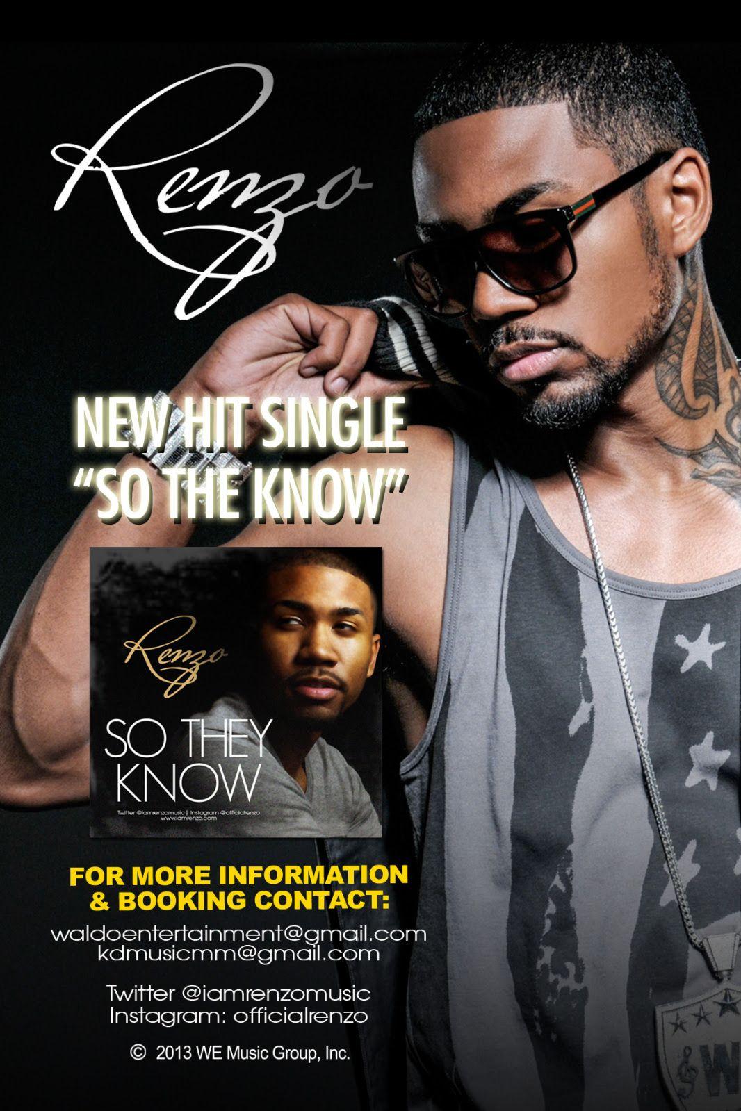 "R&B ARTIST RENZO DROPS NEW SINGLE ""So They Know"" #newmusic"