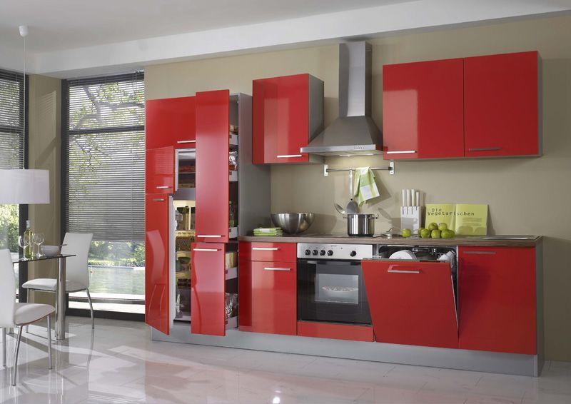 Brillant rouge faites exploser les couleurs avec cette - Cuisine rouge brillant ...