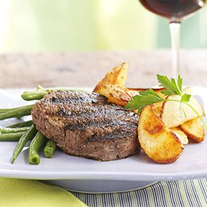 Espresso-Grilled Tenderloin Steaks | MyRecipes.com #myplate #protein