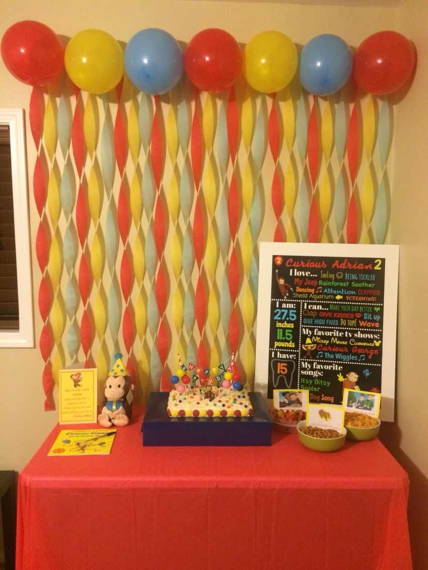 Decorate Birthday Party Cake Table : Curious George birthday party cake table! Curious Adrian ...