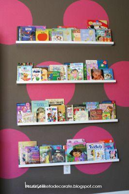 Girl Bedroom Because I Like To Decorate Toddler Bookshelves Wall Bookshelves Girl S Room