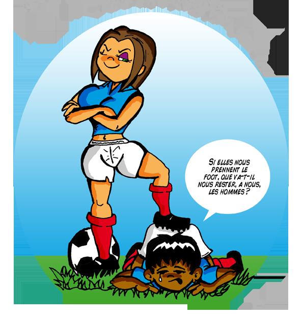 Foot humour dessin recherche google cocasserie - Fille joue au foot ...