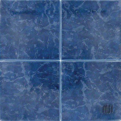 Island Cobalt Pool Tiles Series Porcelain Tile Pool Tile Merola Tile Porcelain Mosaic Tile