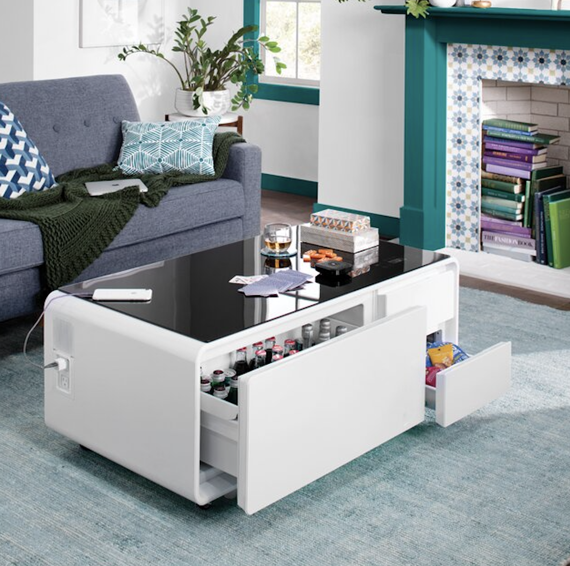 Tiktok Is Obsessed With This Coffee Table With A Hidden Fridge And It S On Sale Right Now Furniture Coffee Table With Storage Coffee Table [ 1156 x 1164 Pixel ]