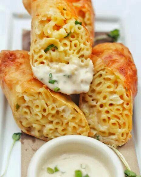Mac n Cheese Springrolls!