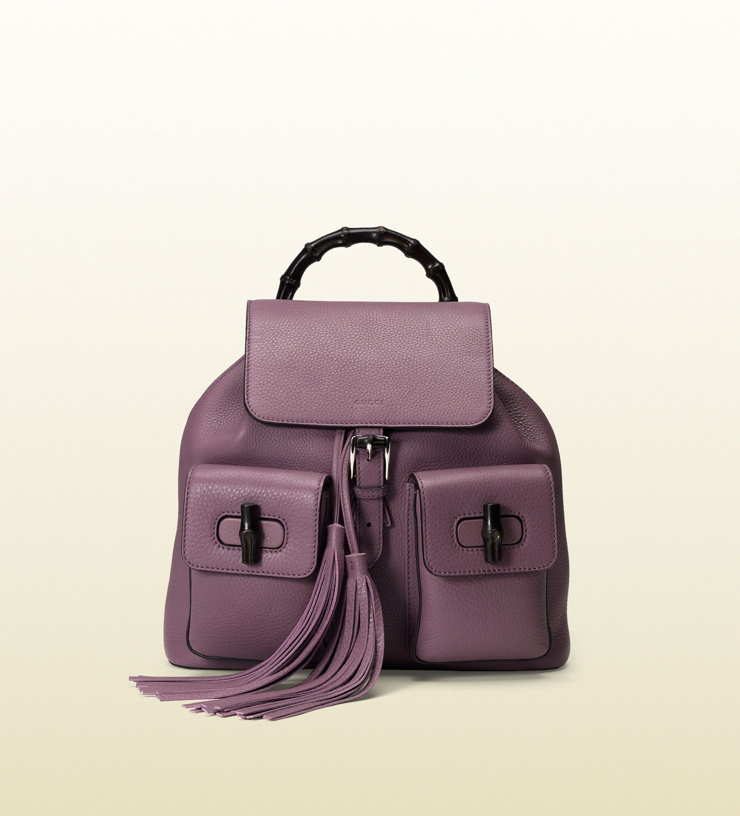 48578a9a1543 Gucci - bamboo leather backpack 370833A7M0N5034 | Obsession: Bags ...
