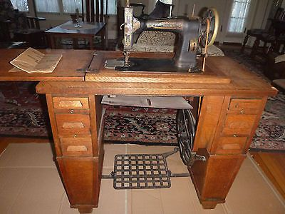 WHITE CO ROTARY TREADLE SEWING MACHINE IN CRAFTSMAN CABINET40 Delectable 1913 White Rotary Sewing Machine