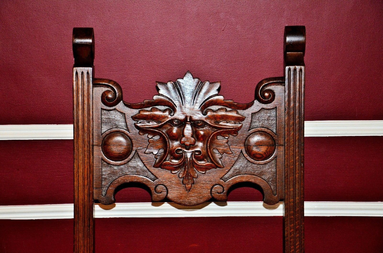 Details About Antique North Wind Face Chair Antiques