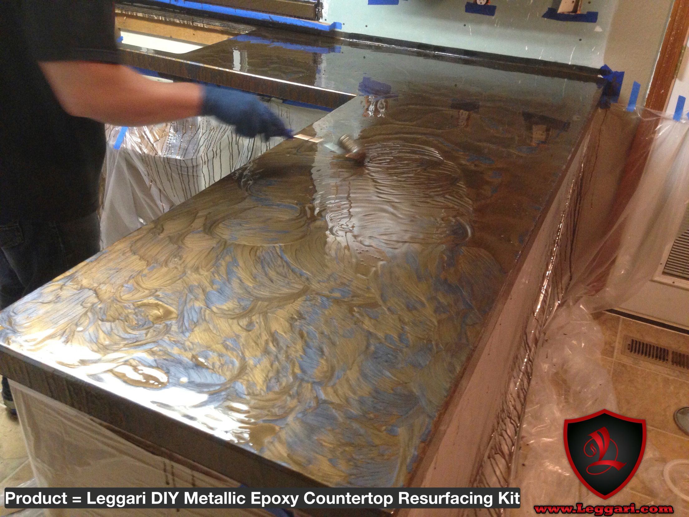 Diy metallic epoxy countertop resurfacing kits are for Diy cooking