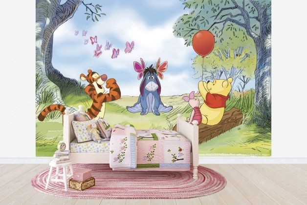Winnie the Pooh Butterflies Wall Mural & Photo