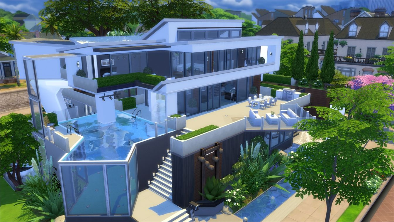 Resultado de imagem para the sims 4 modern house modern for Mansion floor plans sims 4