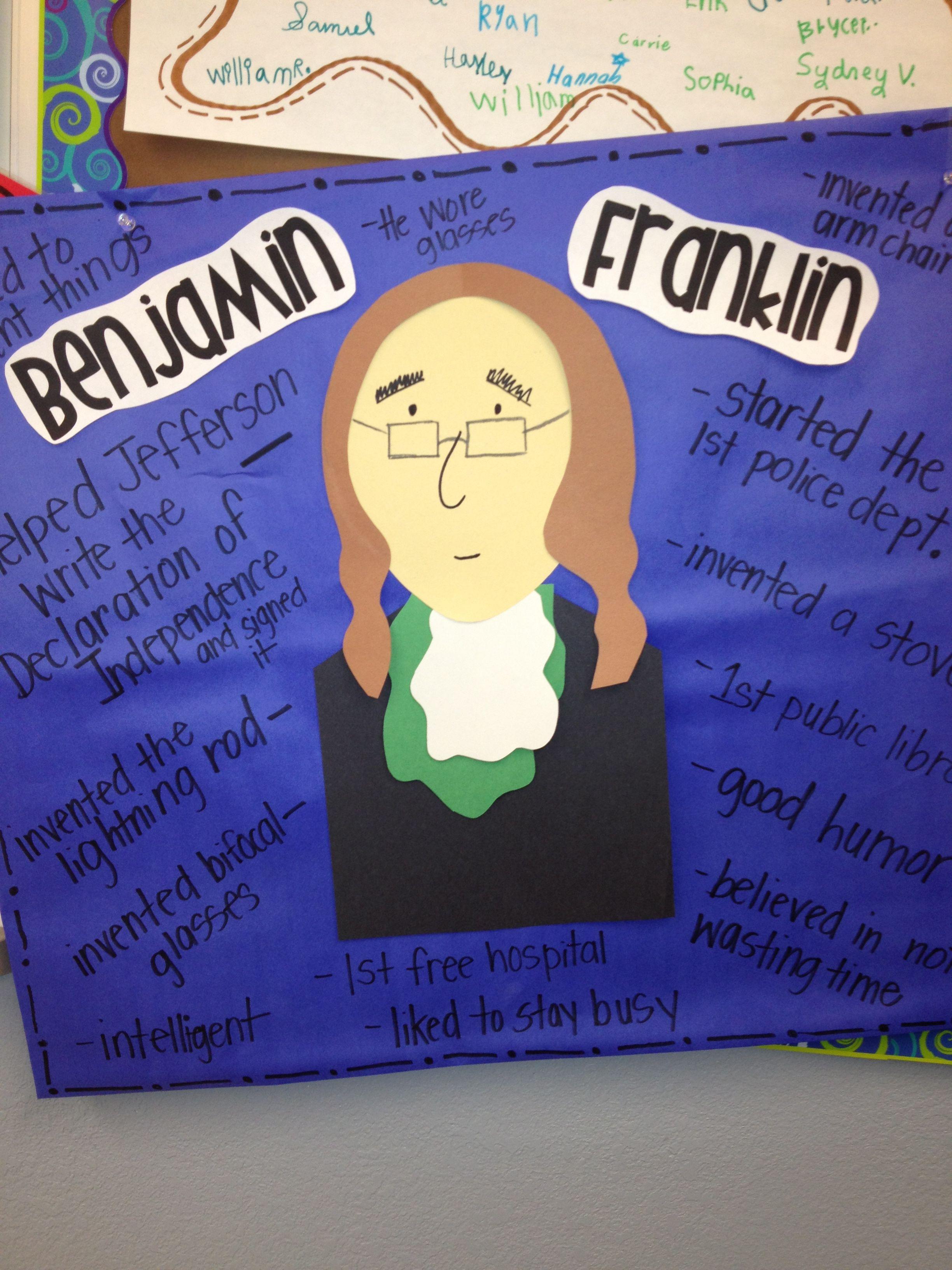 Ben Franklin Anchor Chart