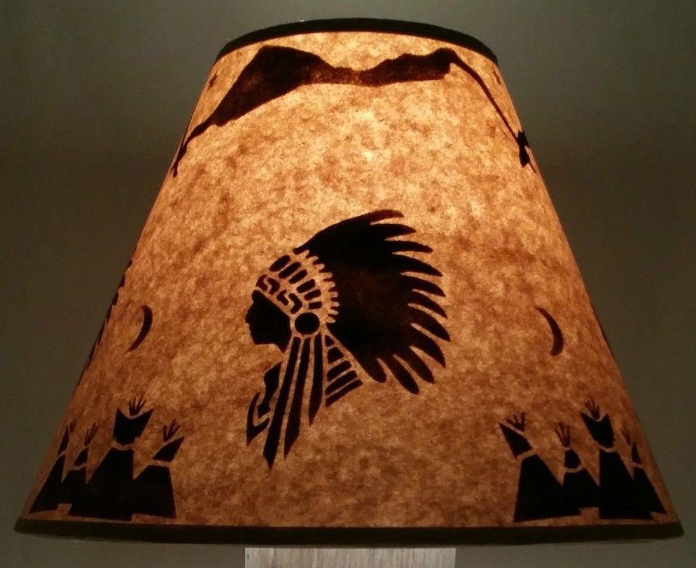 Big chief lamp shade western rustic log cabin native american tipi big chief lamp shade western rustic log cabin native american tipi lodge aloadofball Gallery