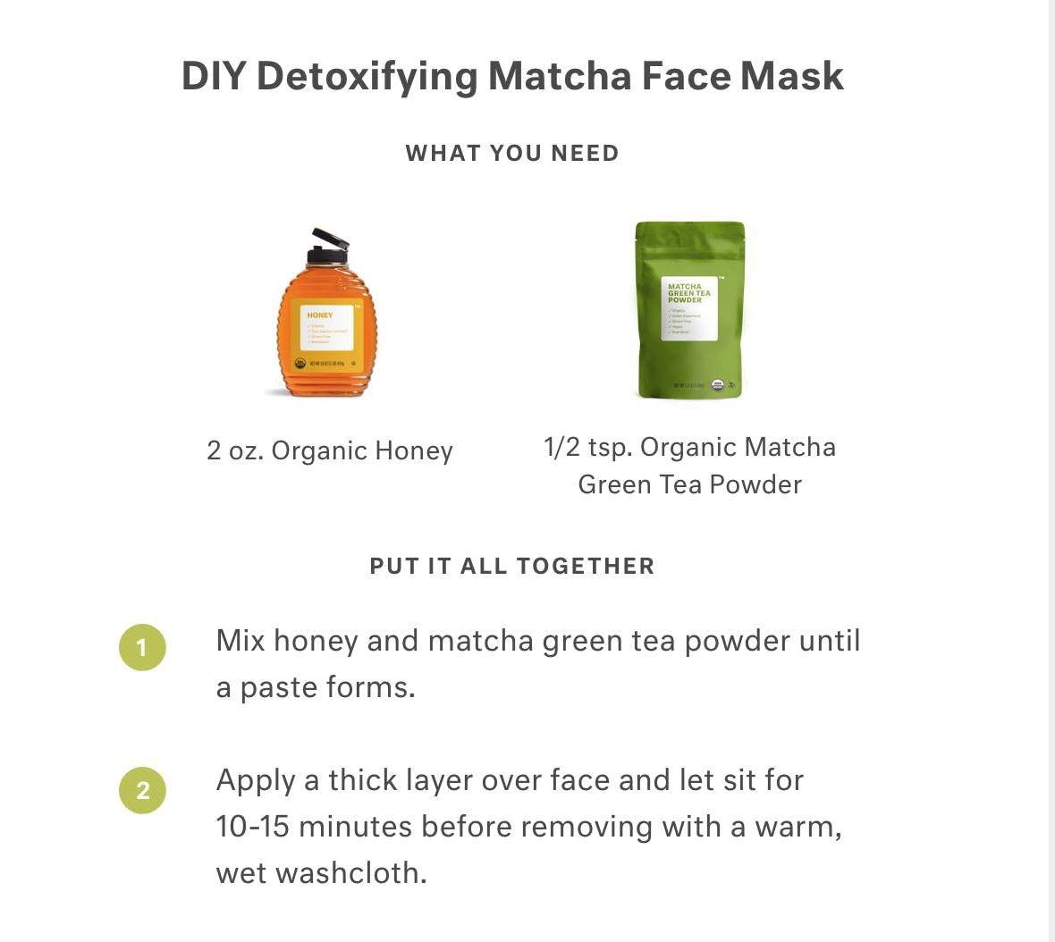 Photo of DIY Detoxifying Matcha Face Mask