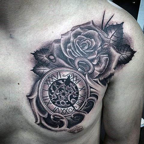 Top 80 Mind Blowing Clock Tattoos 2020 Inspiration Guide Clock Tattoo Clock Tattoo Design Tattoos For Guys