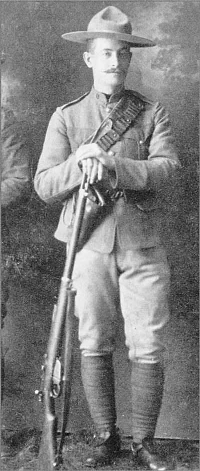 Trooper. Lord Strathcona's Horse, armed with Magazine Lee-Enfield rifle and .45 Colt New Service revolver
