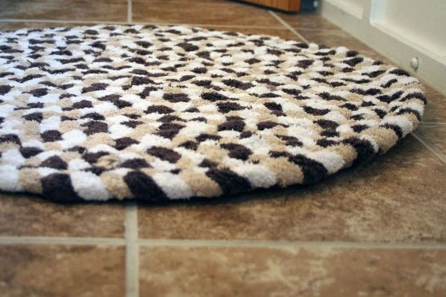 Braided Towel Rug 20 Diy Rugs