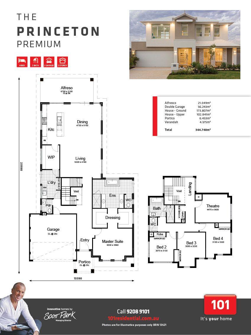 The Princeton Premium Dream House Plans Condo Floor Plans House Blueprints