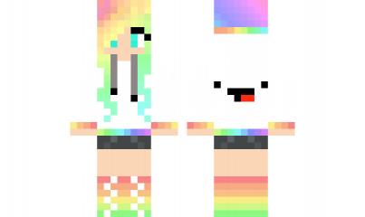Minecraft Skin Derp Girl Minecraft Skin Girls Pinterest