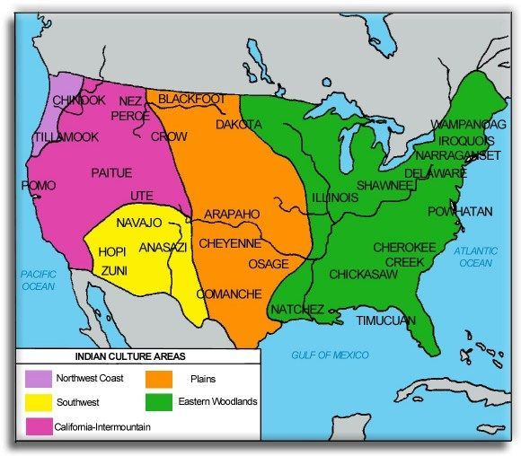 Image result for map of native american tribes in the united
