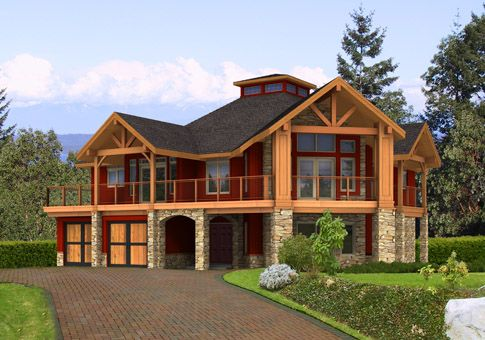 Longview Post And Beam Family Cedar Home Plans Beams